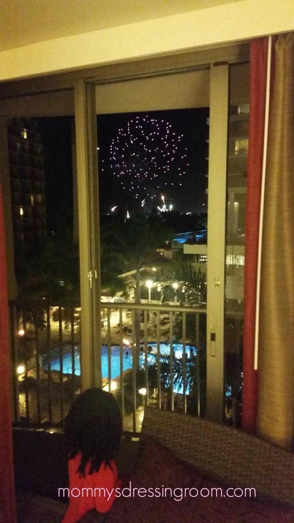Hilton Waikiki Village Fireworks Embassy Suites Beachwalk