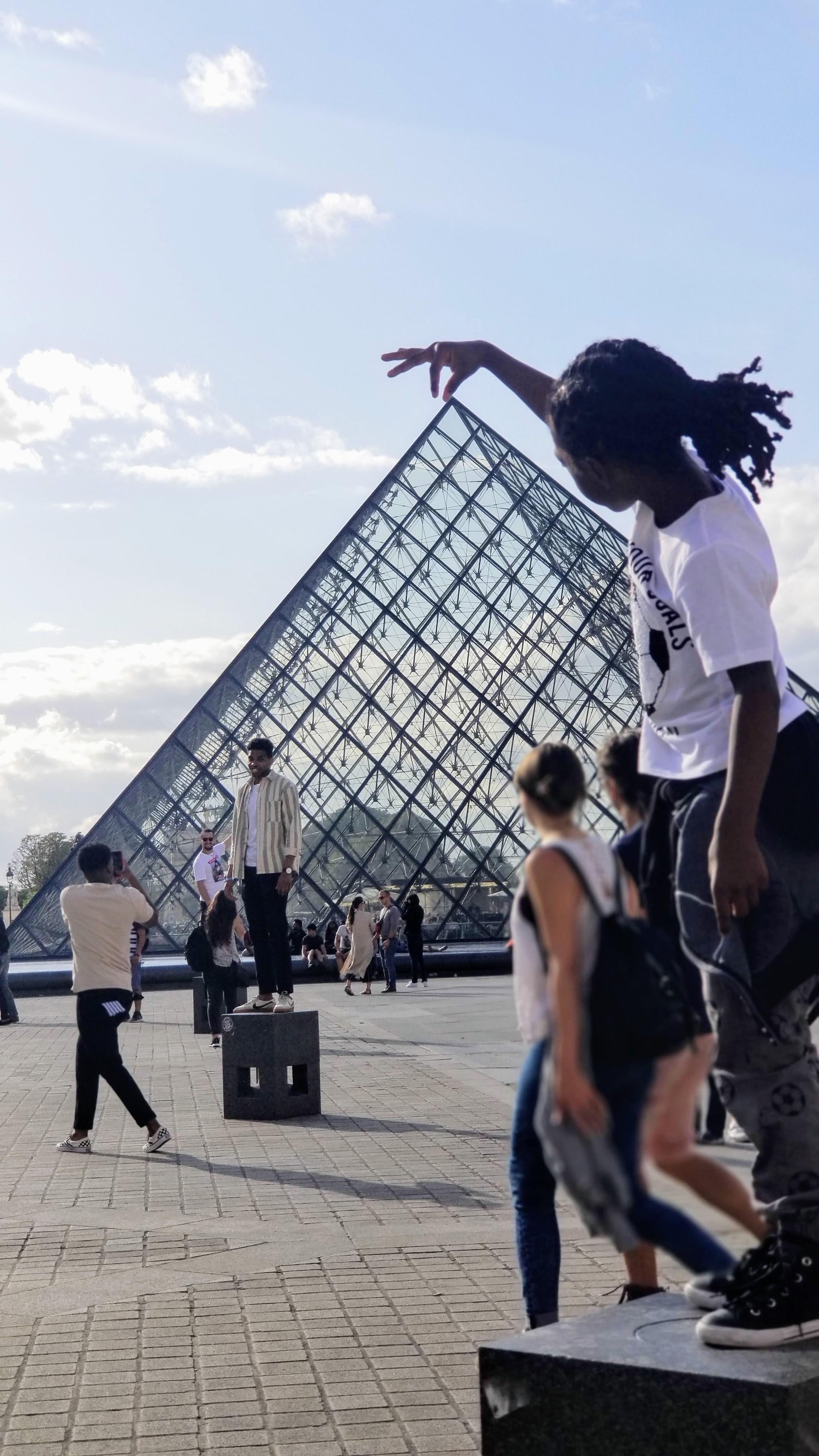 black boy at the Lourve Paris