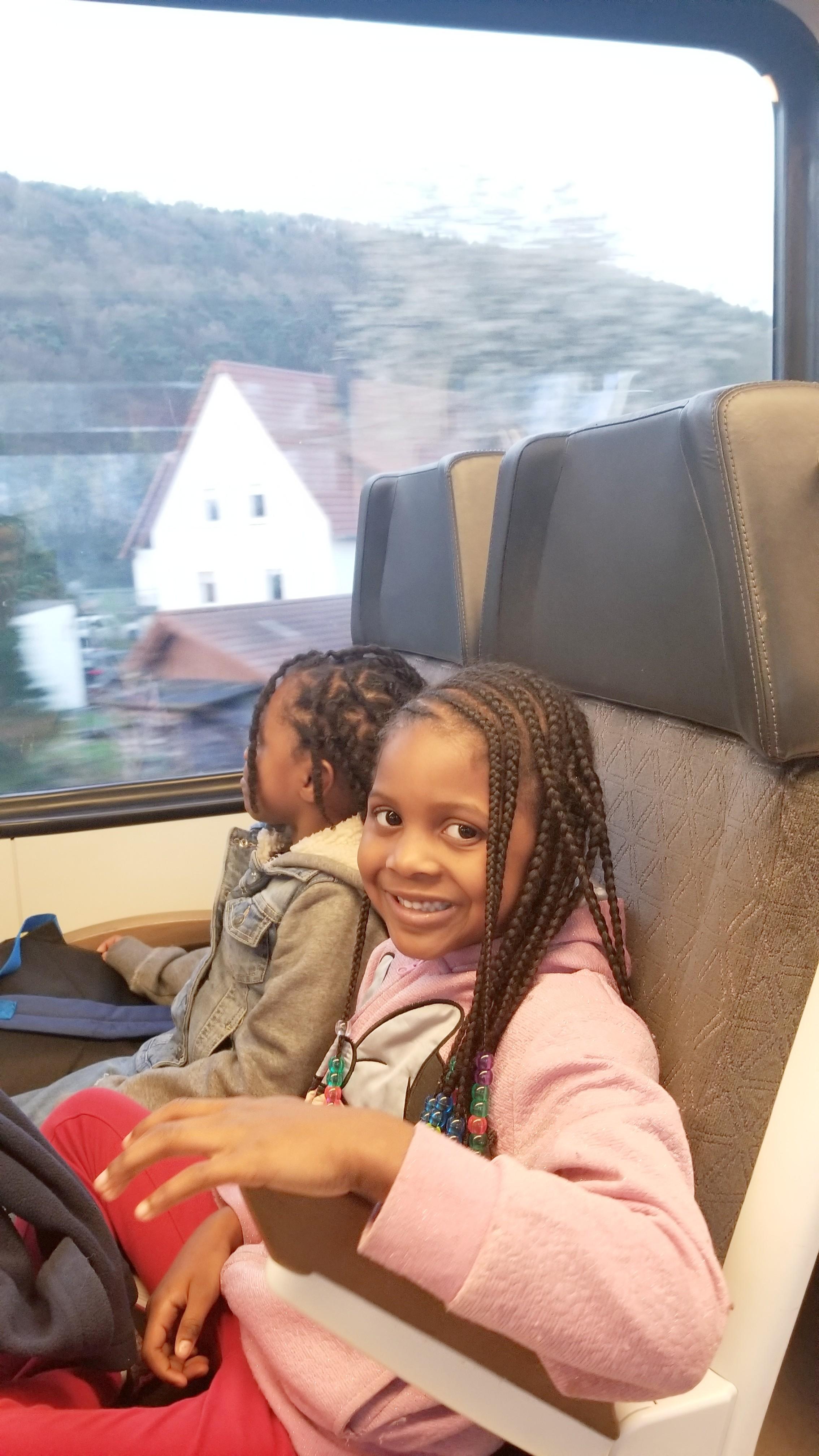 black family traveling paris