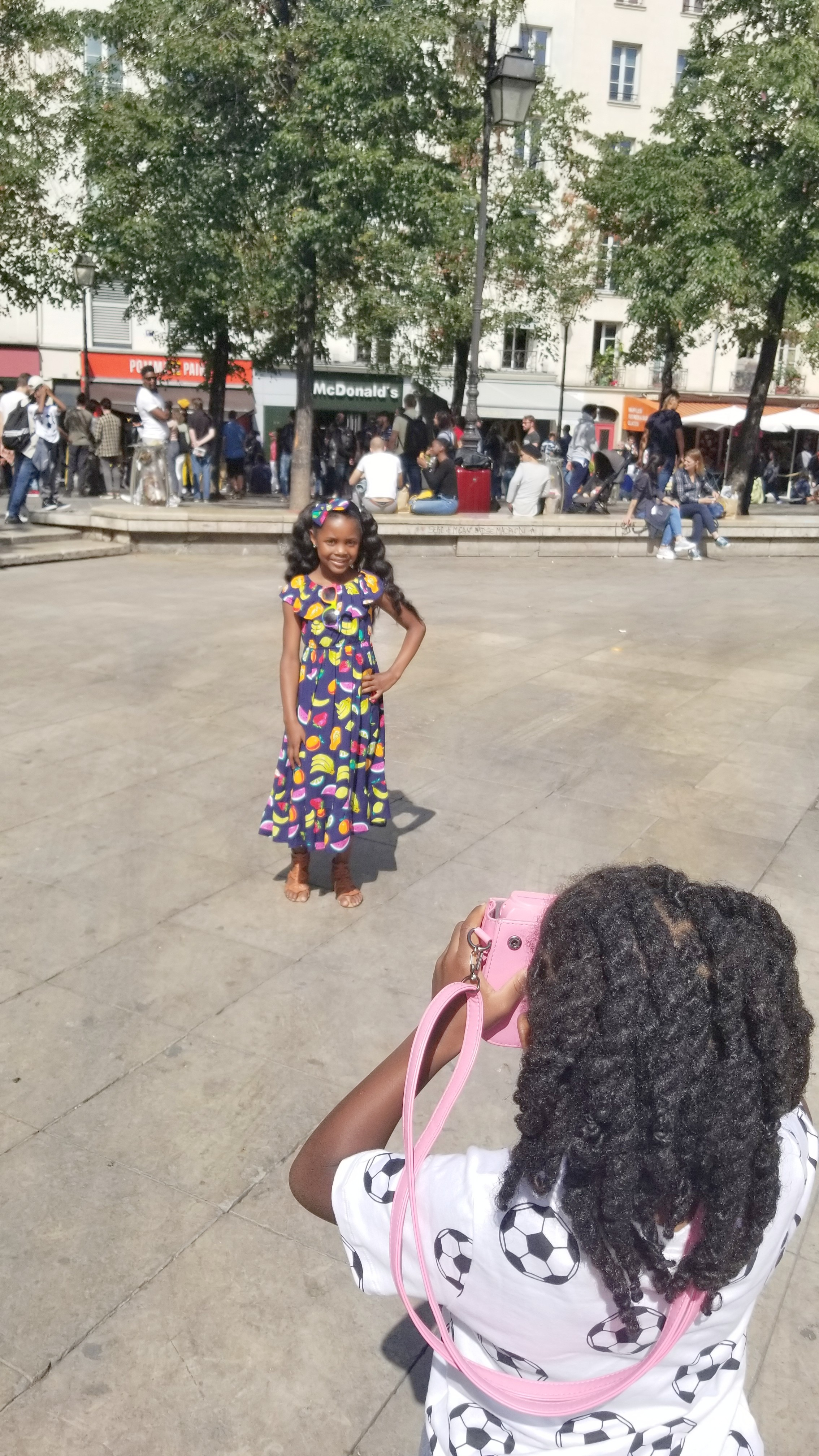 black family traveling