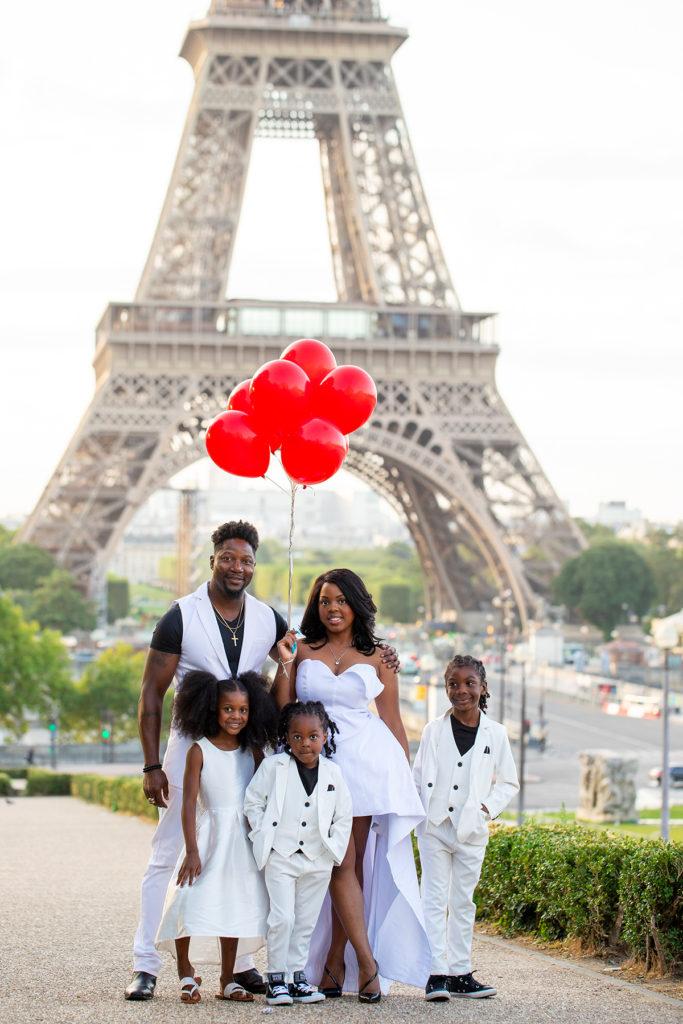 family photos in paris